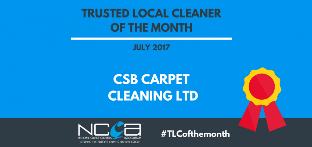 Trusted Local Cleaner for July - CSB Carpet Cleaning Ltd
