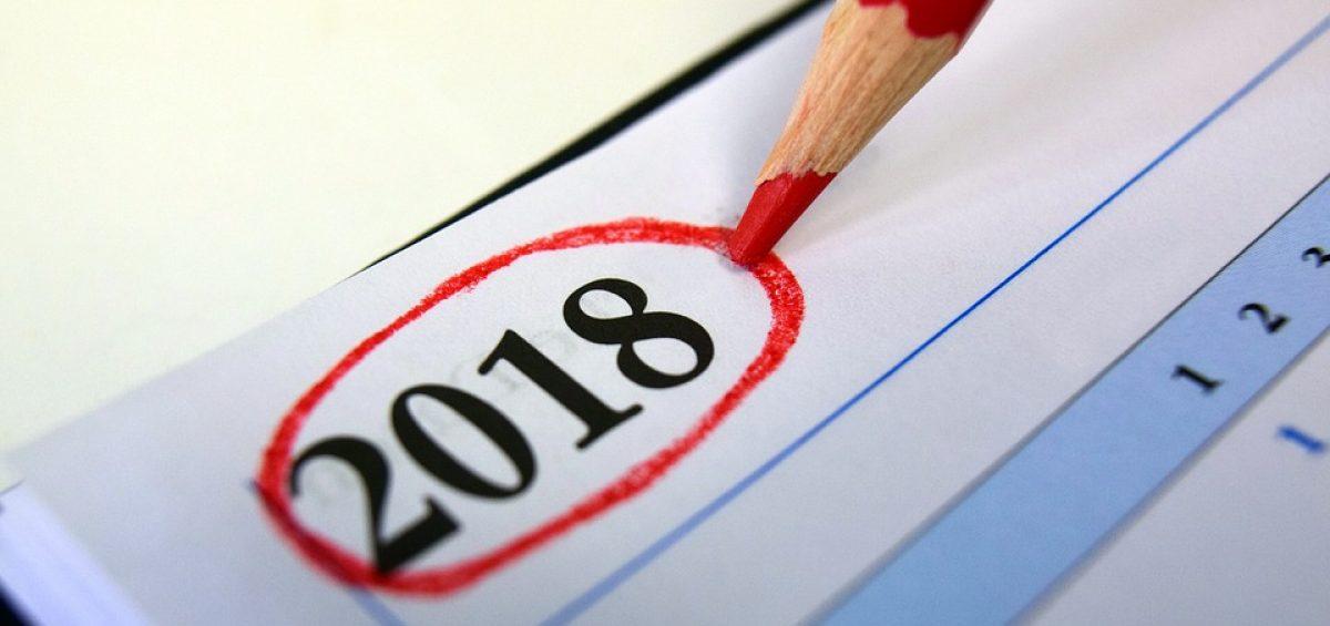 2018 Calendar Diary