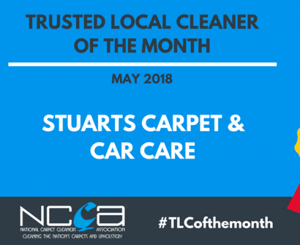 Trusted Local Cleaner for May 2018 - Stuarts Carpet & Car Care