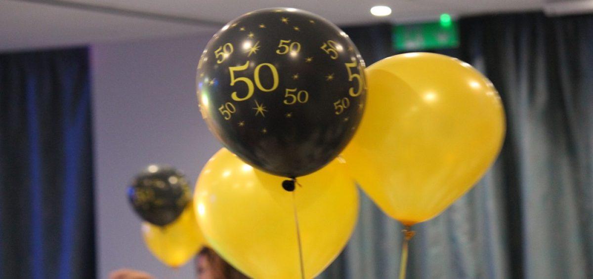 50 balloons at ncca awards
