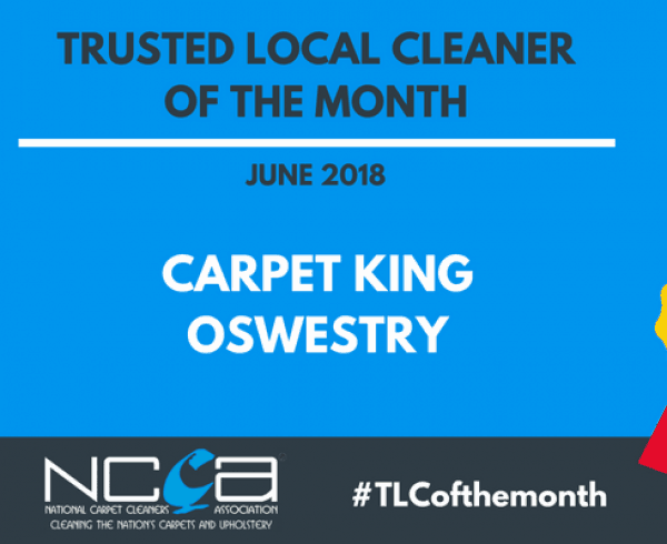 Trusted Local Cleaner for June 2018 - Carpet King Oswestry