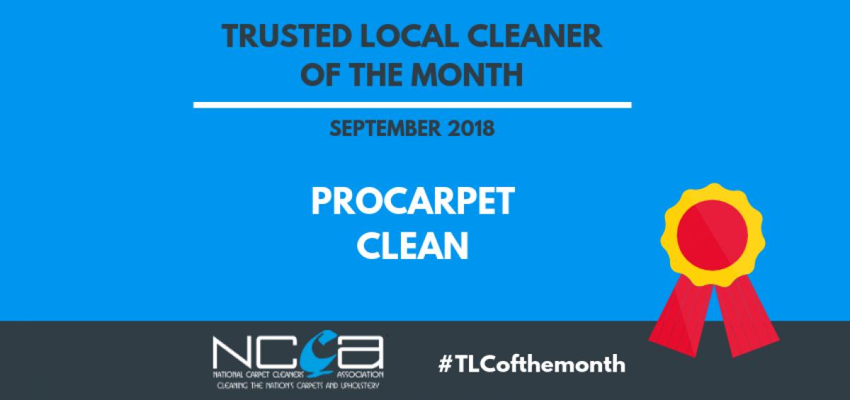 #TLCofthemonth - September 2018 - ProCarpet Clean