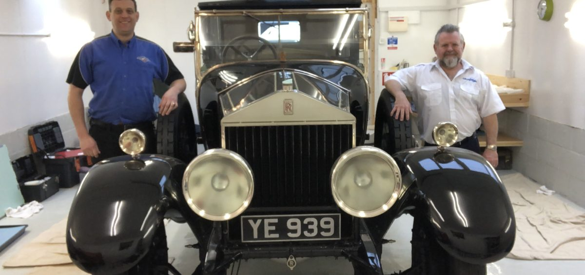 Pierre de Wet and Glyn Charnock with TheRolls Royce Phantom of Love